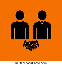 Two Man Making Deal Icon