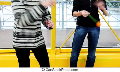 two man playing with yoyo professionally