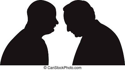two man talking