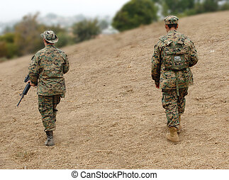 Two Marines - Two US Marines on patrol