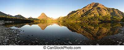 Two Medicine Lake Sunrise Panorama