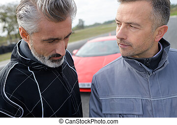 two men and a fast car