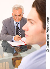 two men during a job interview