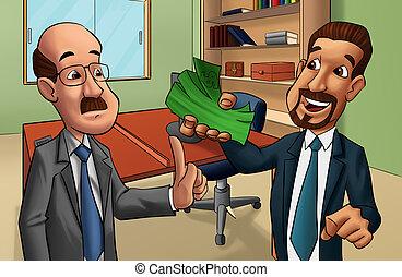 two men in a office