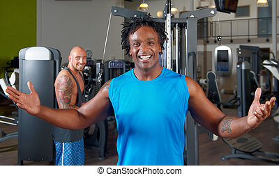 Two men in gym