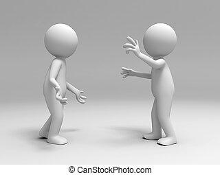 Two men in the debate