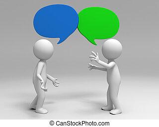 debate - Two men in the debate