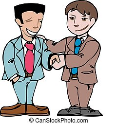 business men shaking hands