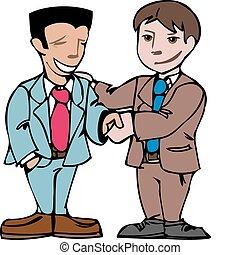 two men shaking hands - business men shaking hands