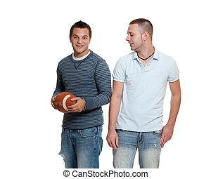 Two men with football