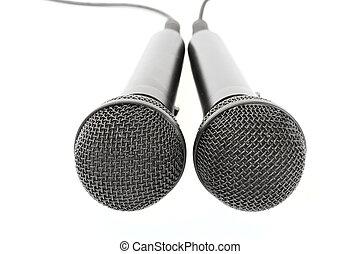 two microphones on a white background- var. 1