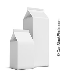 Two Milk Carton Packages isolated on a white background. 3d...