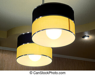 Two modern ceiling lights