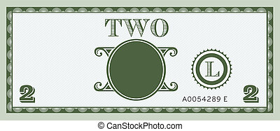 Two money bill image. With space to add your text,...