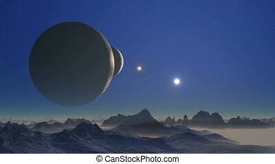 Two moons and UFO