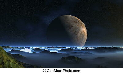 Two Moons over Misty Planet