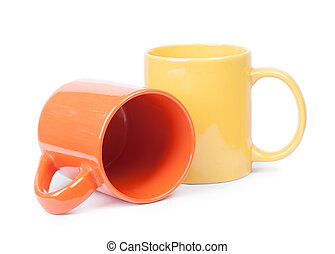 Two mugs isolated