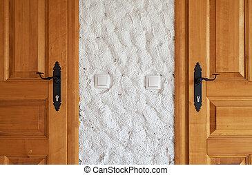 Two New Wooden Doors