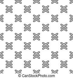 Two non barrier railways pattern seamless