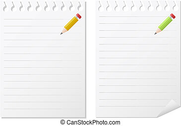 two note pads