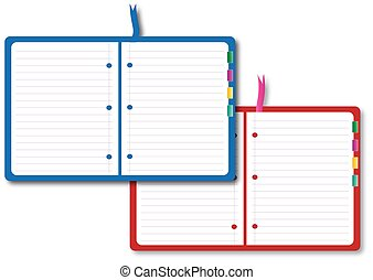 Two notebook on the white color background