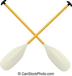 Two oars for canoe