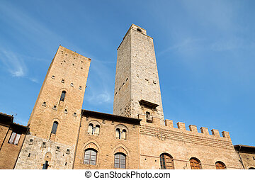 San Giminiano in the province of Siena, Tuscany