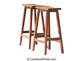 Two of wooden stools.