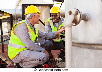 oil chemical industry technicians - two oil chemical...