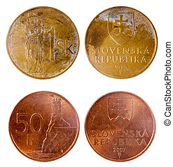 two old coins of slovenia