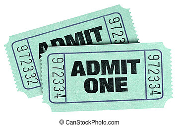 Two old green admit one tickets