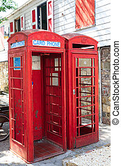 Old Red Phone Booths