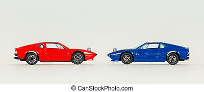 Two old toy cars