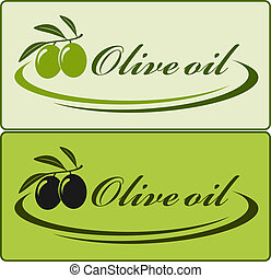 olive oil label - two olive oil label with decorative lines
