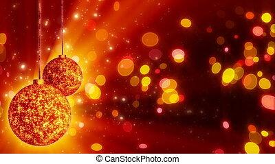 two orange christmas balls loop