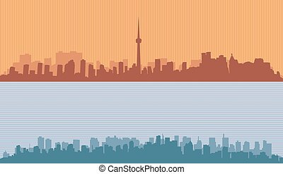 Two original contour of big cities.
