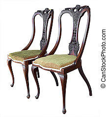 Two Ornate Antique Chairs