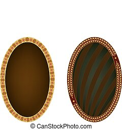 Two oval frames