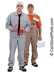 Two painter stood together