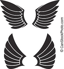 Two pair of vector wings for your design.