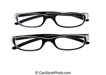Two Pairs of Glasses on White