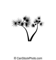 Two palm trees icon, simple style