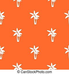 Two palm trees pattern seamless