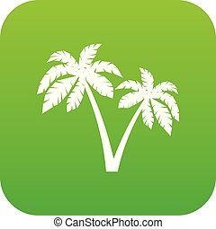 Two palms icon digital green
