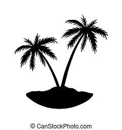 Two palms island