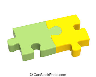 Two parts of a puzzle