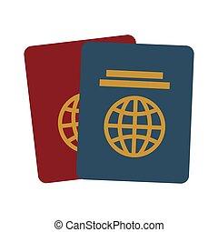 two passport identification tourist