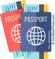 Two passports and boarding passes
