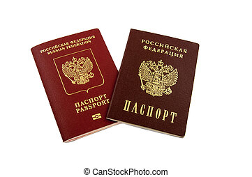 Two passports - internal Russian passports and the passport of the Russian Federation