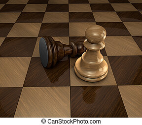 two pawns on chess board
